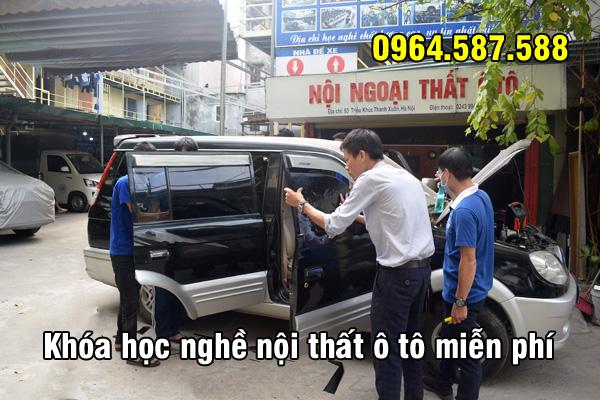 Khóa học nghề nội thất ô tô miễn phí