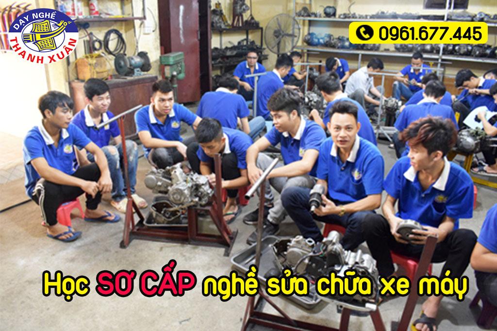 Học sơ cấp nghề sửa xe máy