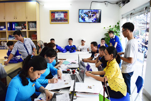 Niềm vui của những bạn trẻ sắp trở thành học viên của Trung tâm dạy nghề Thanh Xuân năm học 2018